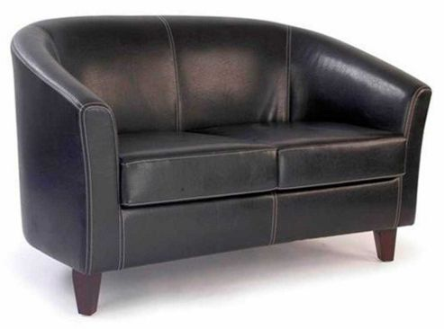 Buy Ultimum Metro Two Seater Brown Tub Sofa From Our