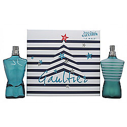 Jean Paul Gaultier Le Male Gift Set 125ml EDT + 125ml Aftershave Splash For Men