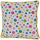 Homescapes Cotton Multi Colour Polka Dots Scatter Cushion, 30 x 30 cm