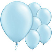 Light Blue Balloons - 11' Metallic Latex Balloon (6pk)