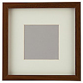 "Tesco Photo Frame Walnut Effect 7""x7""/4""x4""with Mount"