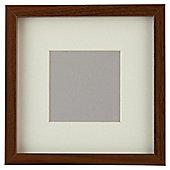 "Tesco Basic Photo Frame Walnut Effect 7 x 7""/4 x 4""with Mount"