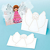Angel Pop-Up Pre Printed Cards for Kids (8 Pcs)