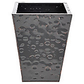 Tesco Metal Tapered Planter - H30xW23xD23cm