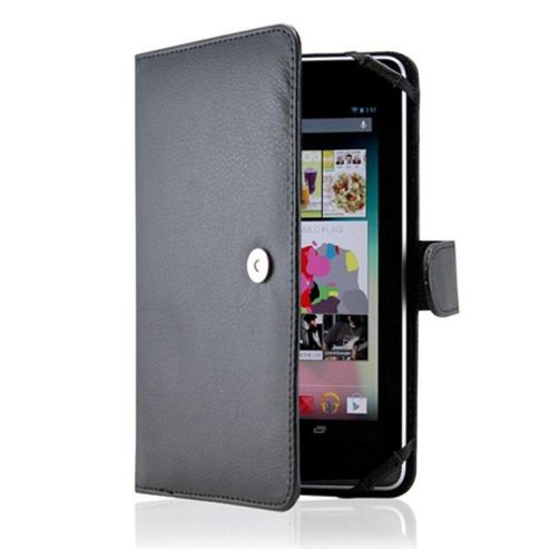 U-bop Neo-Orbit Encyclopedia Flip Case Brown - For Amazon Kindle Fire HD 7 inch
