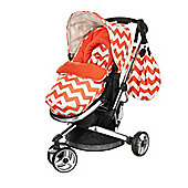 Obaby Chase 3 Wheeler Stroller - ZigZag Orange