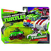 TNMT T-Machines 2 Pack - Raph In Shellrasier & Splinter In Rat Attack