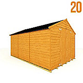 BillyOh 20 12 x 8 Windowless Rustic Overlap Apex Shed