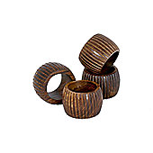 Sabichi Denton Napkin Rings (Set of 4)