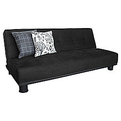 Leader Lifestyle Ismi 3 Seater Clic Clac Sofa Bed - Luxurious Black