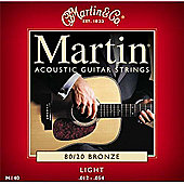 Red - M140 Martin Bronze Strings