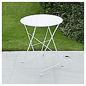 Metal Folding Bistro Table, White
