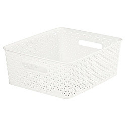 Curver My Style 13L Medium Storage Box, Cream
