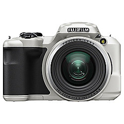 Fuji S8650 Digital Bridge Camera, White, 16MP, 36x Optical Zoom