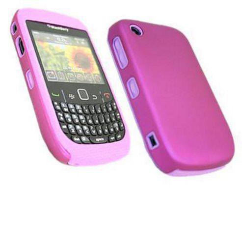 iTALKonline FuZion Purple Soft Silicone Case with Hard Purple Back Cover - For BlackBerry 8520 Curve, 9300 3G