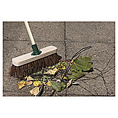 280mm Stiff Natural Bassine Wooden Broom Complete with Wooden Handle