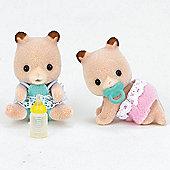 Hamster Twin Babies - Sylvanian Families Baby Figures 5123