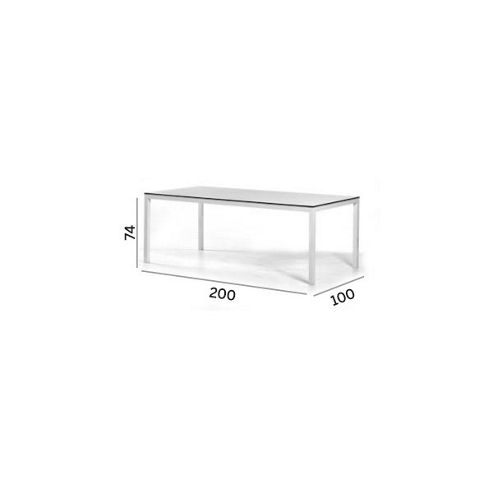 Varaschin Victor Table with HPL Top by Varaschin R and D - 74 cm H x 200 cm W x 100 cm D