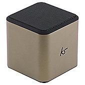 KitSound Cube Portable Mini Speaker, Gold
