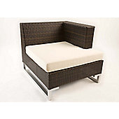 Cozy Bay Manhattan Chair with Left Armrest in Rattan Weave