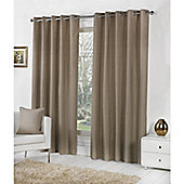 Fusion Sorbonne Eyelet Lined Curtains Taupe - 90x90