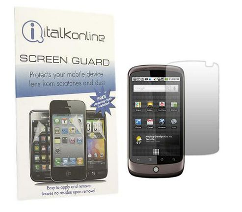 iTALKonline S-Protect LCD Screen Protector and Micro Fibre Cleaning Cloth - For HTC Google Nexus One