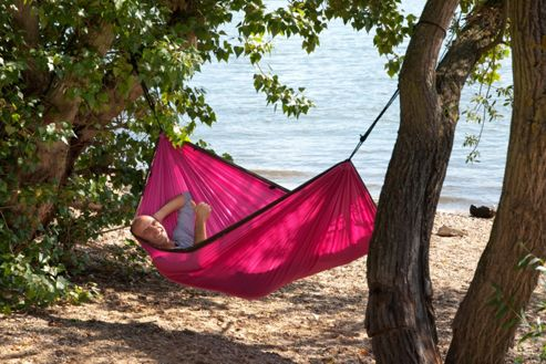 La Siesta Colibri Single Person Travel Hammock - Fuchsia