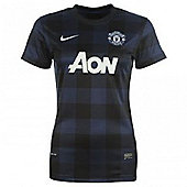 2013-14 Man Utd Away Nike Womens Shirt - Red