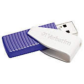 Verbatim Swivel USB Flash Drive 64GB - Purple