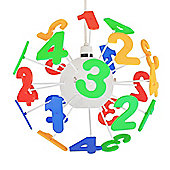Childrens 3D Numbers Pendant Shade in Multi Coloured