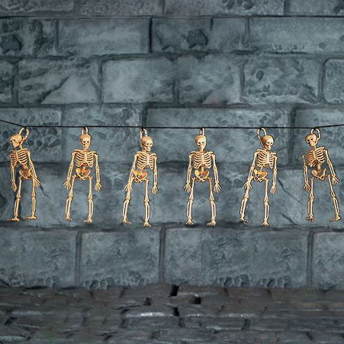 Skeleton Garland - 1.5m Halloween Decoration (each)