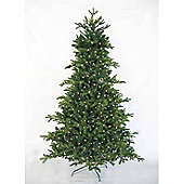 7ft 6in Green Andorran Fir Luxury Pre-Lit Premium PE Christmas Tree