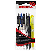 Zebra Pen Set, 6 pack