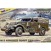 Zvezda - M-3 Armored Scout Car (With Canvas) - Scale 1/35 3581
