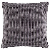 Knitted Cushion Grey
