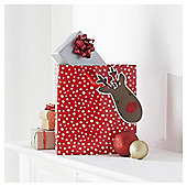 Tesco Rudolph Christmas Gift Bag, Medium