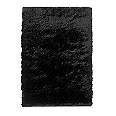 Oriental Carpets & Rugs Sable Black Tufted Rug - 150cm L x 90cm W