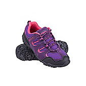Thistle Kids Boys & Girls Durable Suede Mesh Walking Hiking Shoes - Purple
