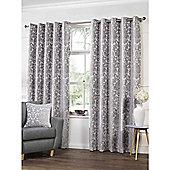 Highgate Silver Eyelets Curtains - 90x90 Inches (229x229cm)