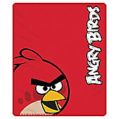 Angry Birds Fleece Blanket Red
