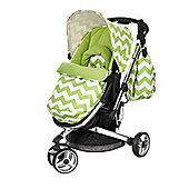 Obaby Chase 2 in 1 Stroller - ZigZag Lime
