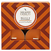 Shearer Tealights 8 Pack Orange and Cinnamon