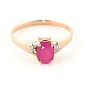 QP Jewellers Diamond & Ruby Oval Desire Ring in 14K Rose Gold