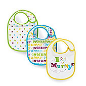 Mothercare I Love Mummy Bibs- 3 Pack