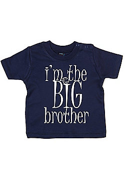 Dirty Fingers I'm the BIG Brother Baby T-shirt - Navy