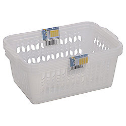Wham Medium Handy Baskets 3 Pack Clear