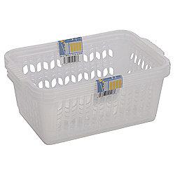 Wham Medium Handy Baskets 3 Pack Clear