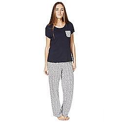 F&F Fish Print Pyjamas 12 - 14 Blue
