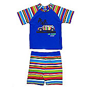 Jakabel Kids UV Sun Protection Set - Blue Stripe - Blue