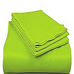 Basics Polycotton Housewife Pillowcases, Lime